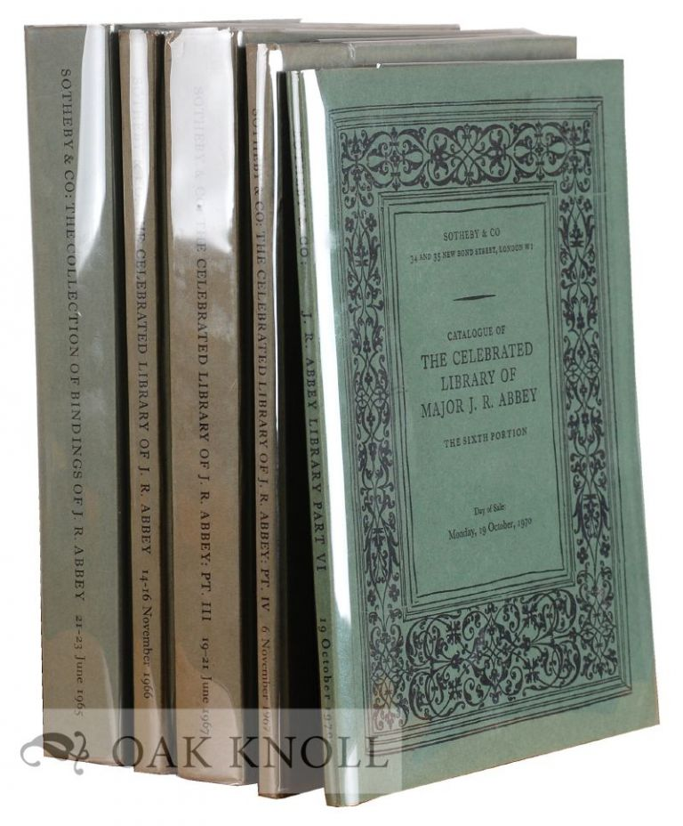 CATALOGUE OF VALUABLE PRINTED BOOKS AND FINE BINDINGS FROM THE CELEBRATED COLLECTION, THE PROPERTY OF MAJOR J.R. ABBEY.