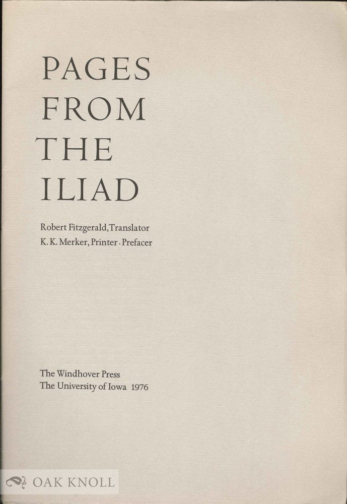 PAGES FROM THE ILIAD.