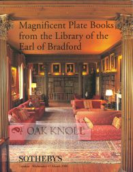 MAGNIFICENT PLATE BOOKS FROM THE LIBRARY OF THE EARL OF BRADFORD.