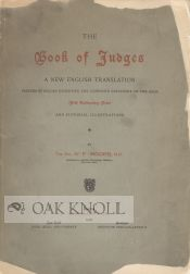 THE BOOK OF JUDGES, A NEW ENGLISH TRANSLATION. Rev. G. F. Moore.