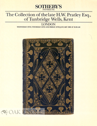 THE COLLECTION OF THE LATE H.W. PRATLEY, ESQ., OF TUNBRIDGE WELLS, KENT.
