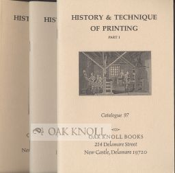 HISTORY & TECHNIQUE OF PRINTING.