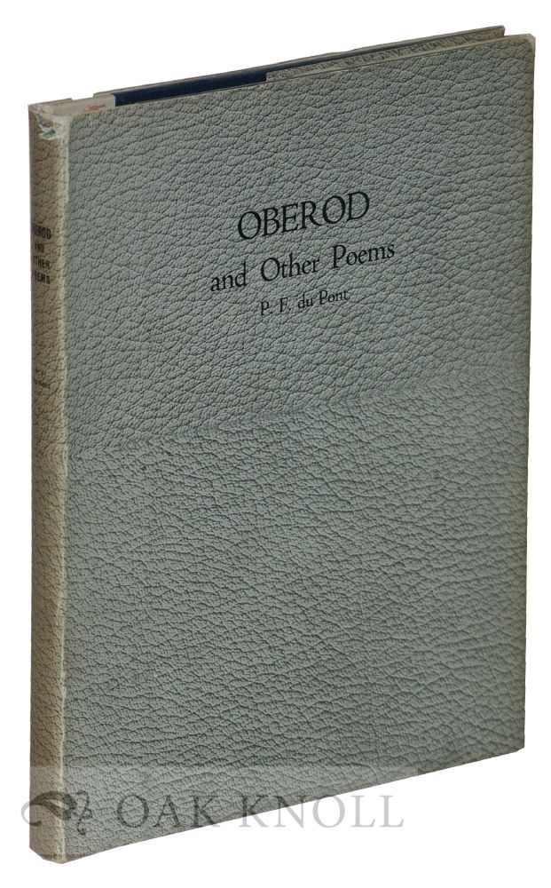 OBEROD AND OTHER POEMS. P. F. Du Pont.