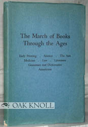 THE MARCH OF BOOKS THROUGH THE AGES.