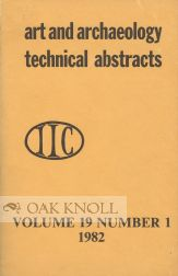 ART AND TECHNOLOGY TECHNICAL ABSTRACTS. Curt W. Beck, et. al.