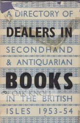 A DIRECTORY OF DEALERS IN SECONDHAND, 1957-58.