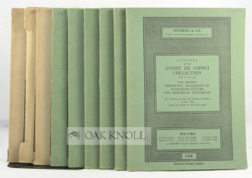 CATALOGUE OF THE ANDRE DE COPPET COLLECTION