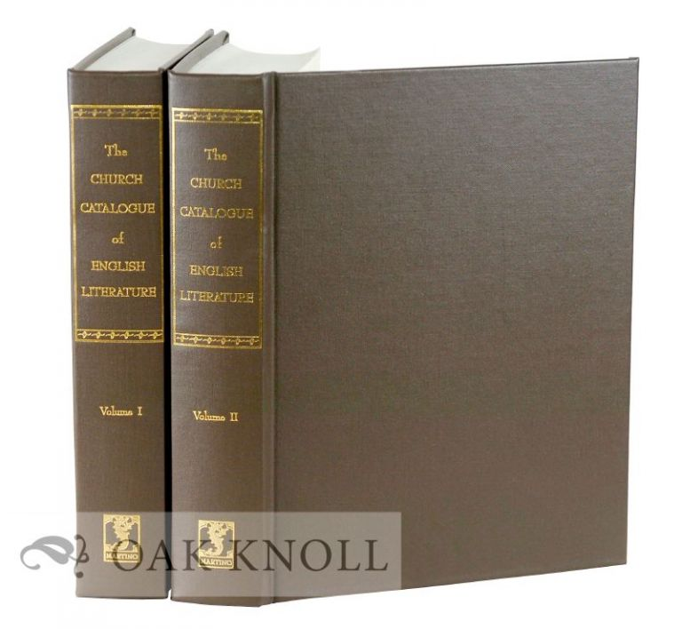 A CATALOGUE OF BOOKS CONSISTING OF ENGLISH LITERATURE AND MISCELLANEA INCLUDING MANY ORIGINAL EDITIONS OF SHAKESPEARE, FORMING A PART OF THE LIBRARY OF E.D. CHURCH. Elihu Dwight Church, George Watson Cole, compiler.