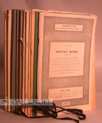 Auction catalogues issued by Sotheby & Co.