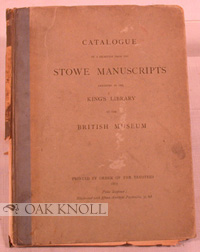 CATALOGUE OF A SELECTION FROM THE STOWE MANUSCRIPTS.