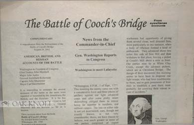 BATTLE OF COOCH'S BRIDGE, FROM EYEWITENSS (sic) ACCOUNTS.