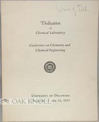 DEDICATION OF CHEMICAL LABORATORY, CONFERENCE ON CHEMISTRY AND CHEMICAL ENGINEERING.