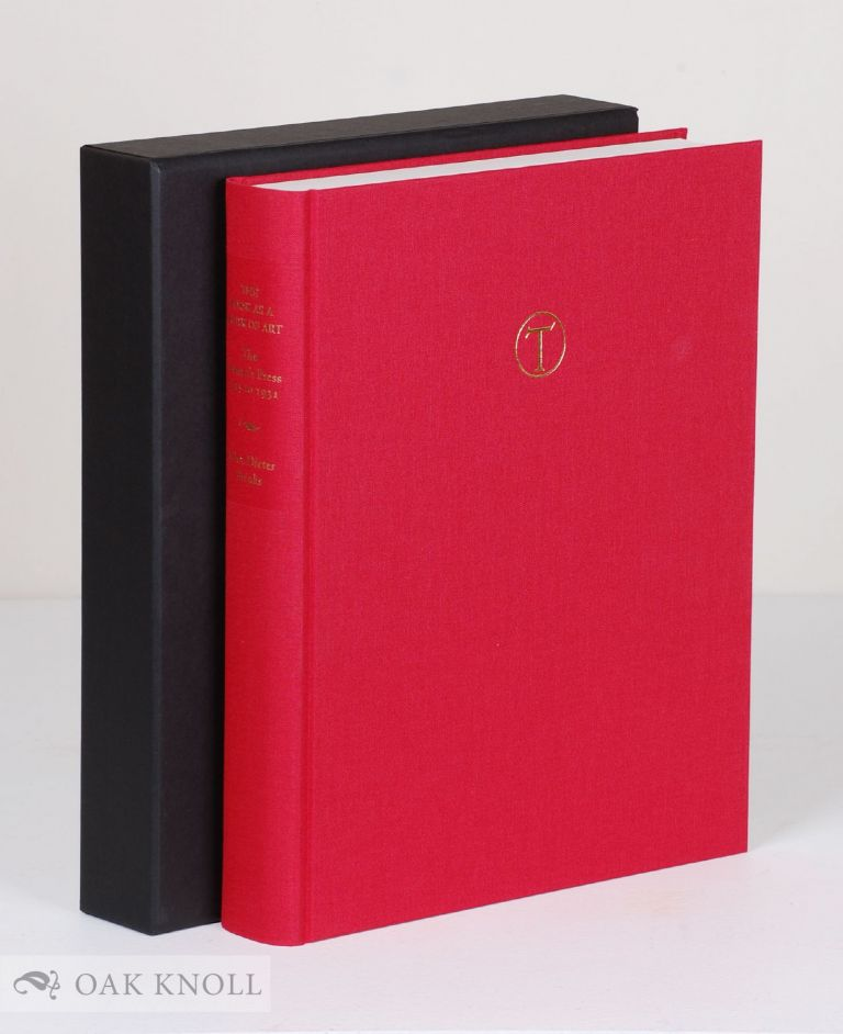 THE BOOK AS A WORK OF ART, THE CRANACH PRESS OF COUNT HARRY KESSLER. John Dieter Brinks.