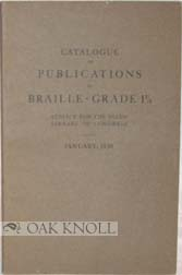 CATALOGUE OF PUBLICATIONS IN BRAILLE-GRADE 1 1/2