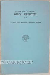 STATE OF LOUISIANA OFFICIAL PUBLICATIONS. Wade O. Martin Jr.