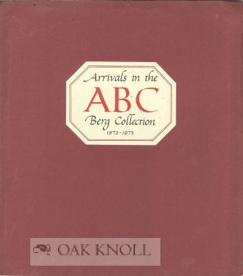 ABC, ARRIVALS IN THE BERG COLLECTION 1973-1975