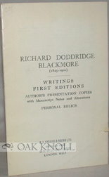 A COLLECTION OF THE WORKS OF RICHARD DODDRIDGE BLACKMORE.