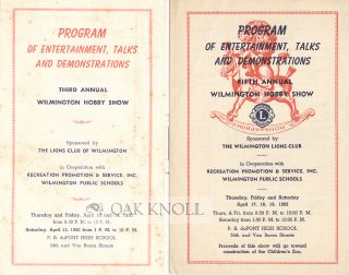 PROGRAM OF ENTERTAINMENT, TALKS AND DEMONSTRATIONS, THIRD (etc) ANNUAL WILMINGTON HOBBY SHOW.