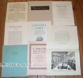 PORTFOLIO TO COMMEMORATE THE TWO-HUNDREDTH ANNIVERSARY OF THE DEATH OF WILLIAM CASLON