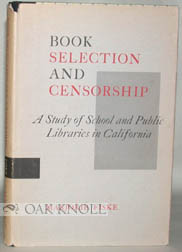 BOOK SELECTION AND CENSORSHIP. Marjorie Fiske.