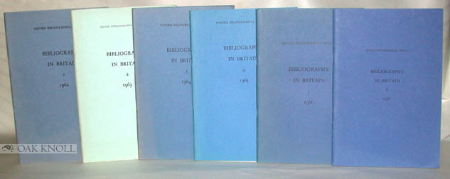 BIBLIOGRAPHY IN BRITAIN, A CLASSIFIED LIST OF BOOKS AND ARTICLES PUBLISHED IN THE UNITED KINGDOM.