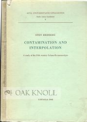 CONTAMINATION AND INTERPOLATION, A STUDY OF THE 15TH CENTURY COLUMELLA MANUSCRIPTS.aut-in. Sten Hedberg.