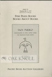 FINE PRESS BOOKS, BOOKS ABOUT BOOKS FROM THE LIBRARY OF IRVING W. ROBBINS JR. (WITH ADDITIONS)