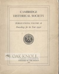 """THE CENTENARY OF THE CAMBRIDGE BOOK CLUB."" Francis Greenwood Peabody."