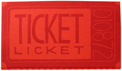 TICKET LICKET. Benjamin D. Rinehart.