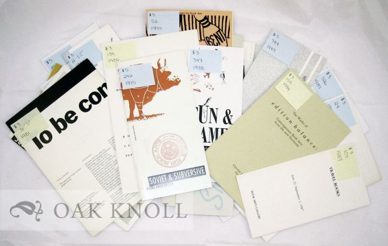 EXHIBITION CATALOGUES FROM THE CENTER FOR BOOK ARTS
