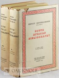 MENDELSSOHN'S SOUTH AFRICAN BIBLIOGRAPHY. WITH A DESCRIPTIVE INTRODUCTION BY I.D. COLVIN. Sidney Mendelssohn.