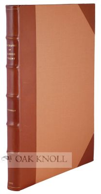 GEOGRAPHY OF CLAUDIUS PTOLEMY. Edward Luther Stevenson, and.