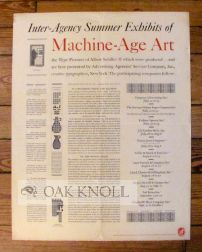 INTER-AGENCY SUMMER EXHIBITS OF MACHINE-AGE ART,