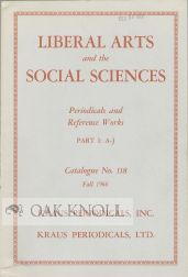 LIBERAL ARTS AND THE SOCIAL SCIENCES.