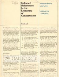 PRESERVATION LEAFLETS: LIBRARY OF CONGRESS