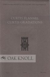 CURTIS FLANNEL, CURTIS GRADATIONS. TEXT, COVER, WRITING. Curtis.