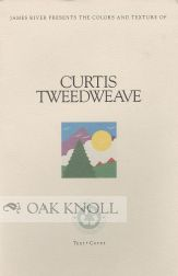 JAMES RIVER PRESENTS THE COLORS AND TEXTURE OF CURTIS TWEEDWEAVE, TEXT, COVER. Curtis.