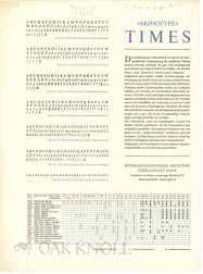 TIMES. Monotype.