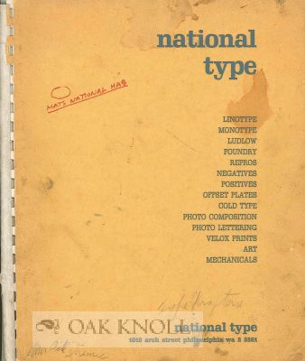 NATIONAL TYPE. National Type.