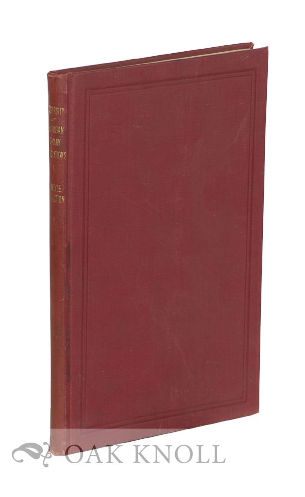 CATALOGUE OF THE DR. SAMUEL A. JONES CARLYLE COLLECTION. Mary Eunice Wead.