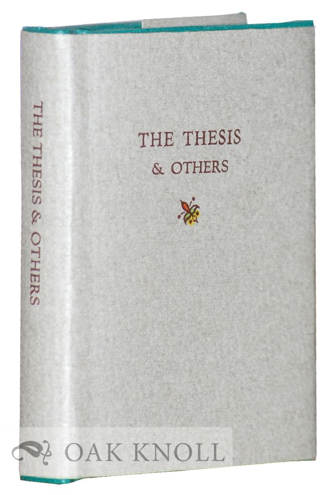 THE THESIS AND OTHERS. J. Ed Newman.