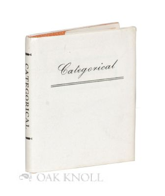 CATEGORICAL. Ferenc Andersony, Frank J. Anderson.