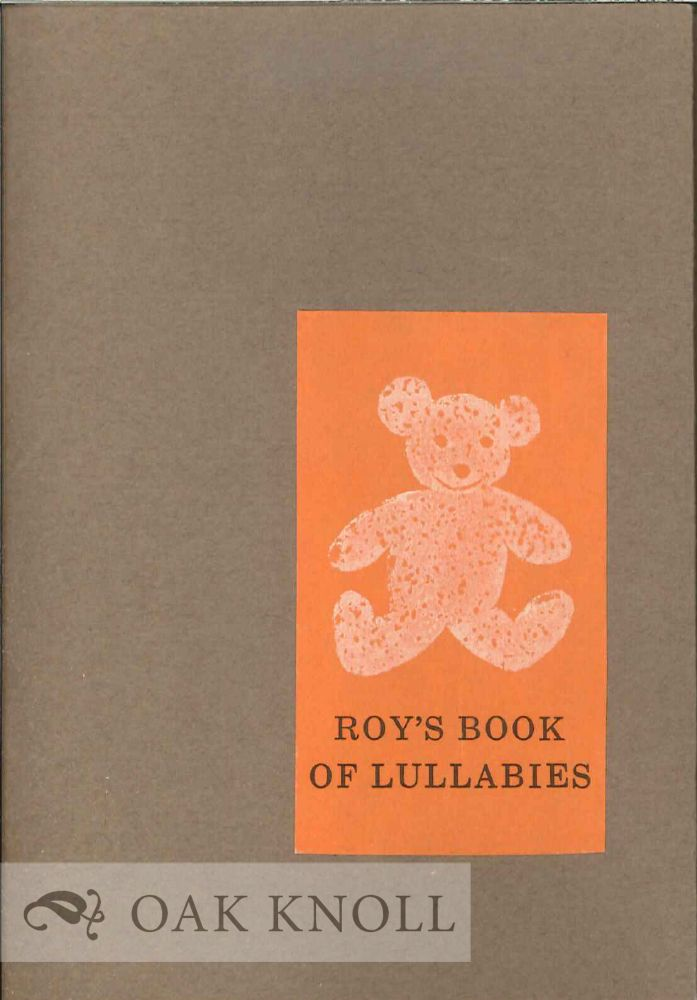 ROY'S BOOK OF LULLABIES.