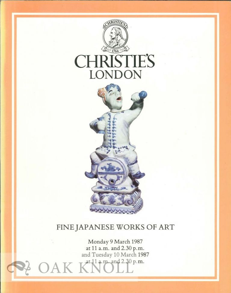 FINE JAPANESE WORKS OF ART THE PROPERTY OF A LADY OF TITLE AND FROM VARIOUS SOURCES. Christie's.