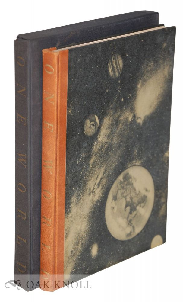 """ONE WORLD, THE PHOTOGRAPHIC ALBUM EDITION, """"THE FACES & THE PLACES THA T WILLKIE SAW."""" Wendell L. Willkie."""