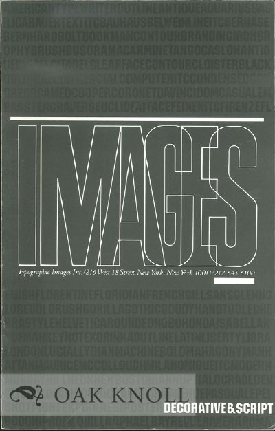 A CATALOG OF IMAGES. Typographic Images.