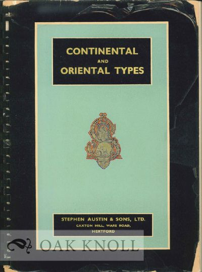 CONTINENTAL AND ORIENTAL TYPE LIST. Austin.