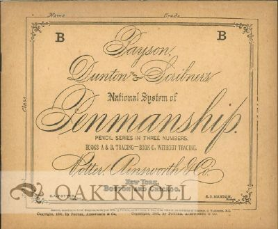 PAYSON, DUNTON AND SCRIBNER'S NATIONAL SYSTEM OF PENMANSHIP.