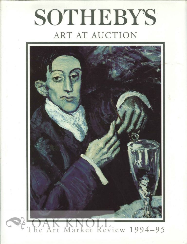 SOTHEBY'S ART AT AUCTION, THE ART MARKET REVIEW 1994-95.