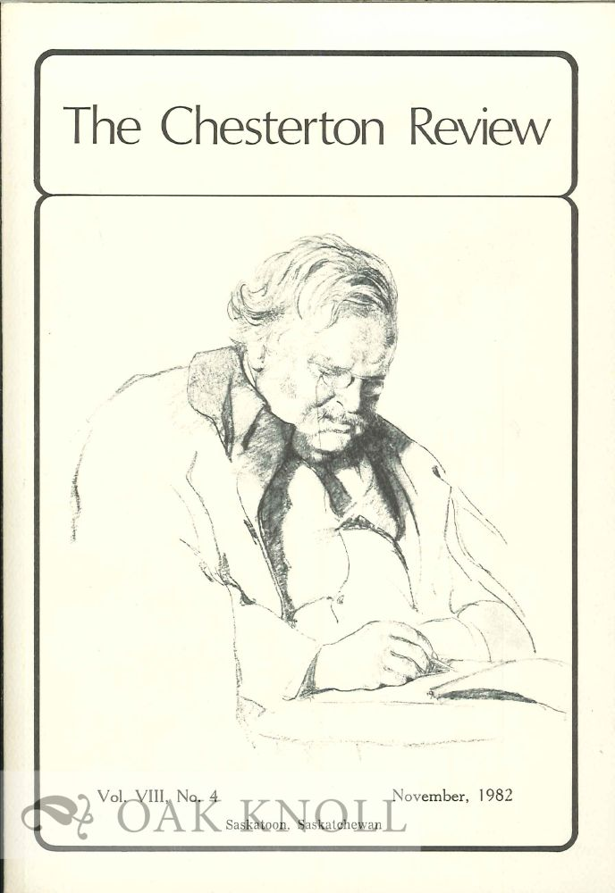 THE CHESTERTON REVIEW. Ian Boyd.